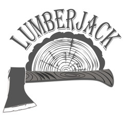 emblem lumberjack vector
