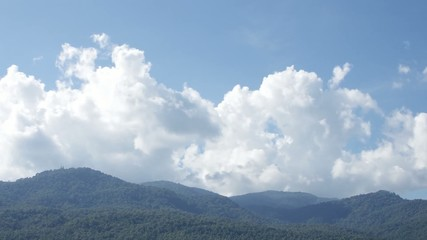 time-lapse of cloud over the tropical mountain range