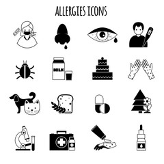 Allergies Icons Black