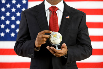 Politician: Holding a Globe in His Hands