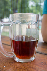 glass of with kvass