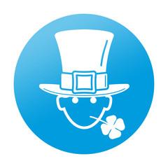Etiqueta tipo app redonda St Patrick