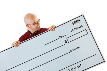 Check: Reading the Amount on a Huge Check