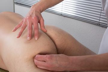 Massothérapie muscles fessiers
