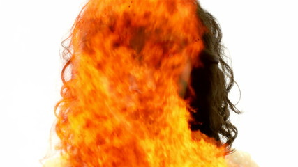 Woman of fire mask mystery