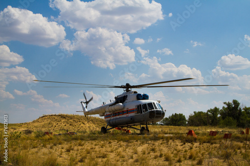 Foto op Canvas Helicopter Firefighting Helicopter