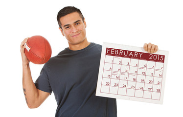 Man Ready For Big Football Game In February 2015