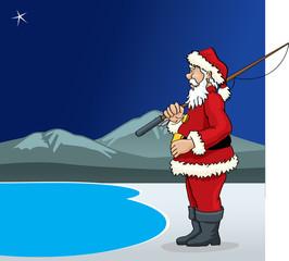 Santa Claus Fishermat