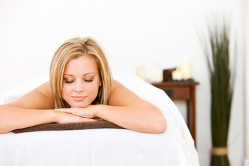 Massage: Woman Lies With Eyes Closed