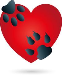 Logo, Herz, Katze, Hund