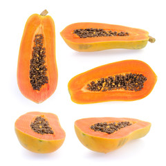 papaya fruits collection