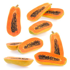 papaya fruits collection