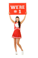 Cheerleader: We Are Number One Sign