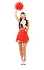 Cheerleader: Yelling Through a Megaphone