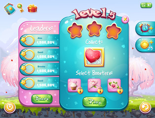 Example of the game window to the task for a computer game