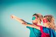 Leinwanddruck Bild - Superhero kids