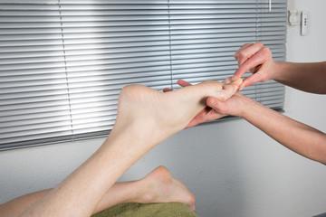 Massage orteils