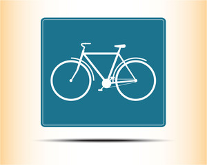 Bicycle icon. Single flat color icon. Vector illustration