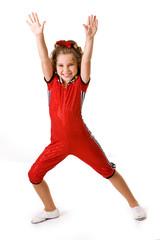 Dance: Little Girl In Acrobatics Costume