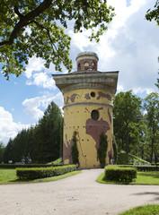 Tower - ruins.Pushkin (Tsarskoye Selo). Petersburg...