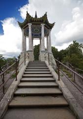 Pushkin (Tsarskoye Selo). Pavilion in the Chinese style.