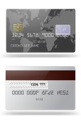 Glossy credit card.