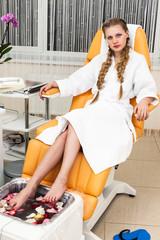 girl in modern beauty salon