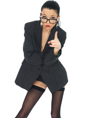 Sexy Sensual Young Business Woman Pin Up