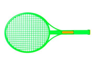 a green racket