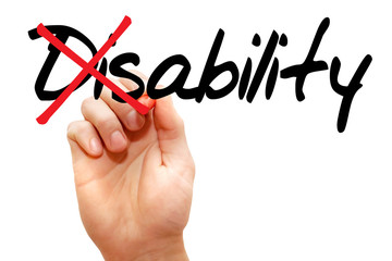 Turning the word Disability into Ability, business concept