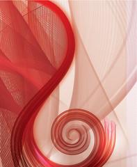 Nice flight tissue in swirl shape