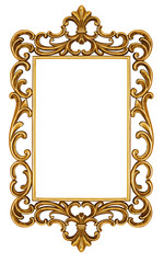 Antique frame isolated on white