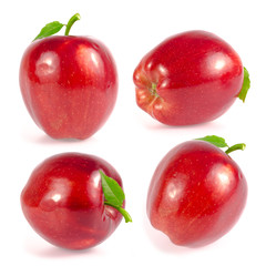 Set of Red apple