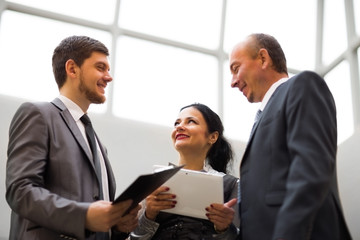 image of a business team discussing