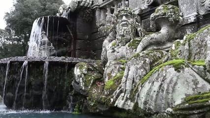 Personification Of River Tiber Giants Fountain Villa Lante