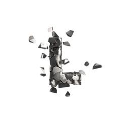 shattered iron letter