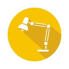 Icono flexo amarillo botón sombra