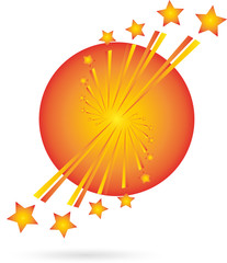 Feuerwerk, Raketen, Explosion, Leuchtsterne