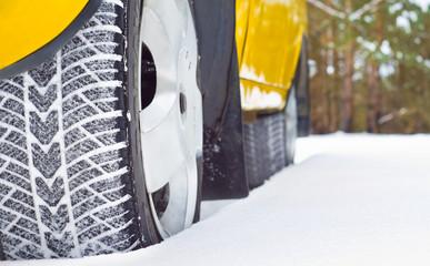 Winter tyres in snow