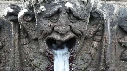 Detail Of Mensa Del Cardinale Fountain Villa Lante Italy