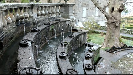 Fountain Of Lamps, Villa Lante, Italy