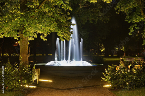 Fountain in Kostrzyn nad Odra. Poland - 76130411
