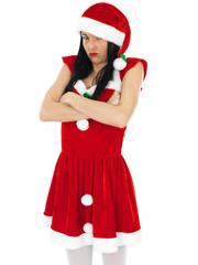 Sexy Sulking Santa Pin Up Model