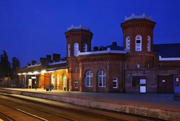 Railway station in Kostrzyn nad Odra. Poland