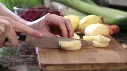 Chopping Potates