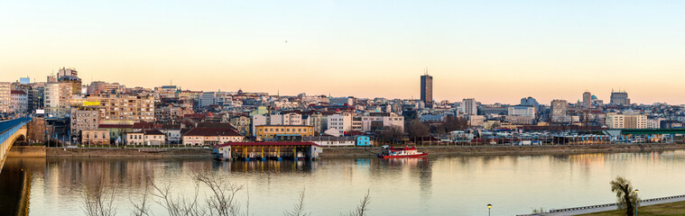 Panorama of Belgrade over the Sava river - Serbia
