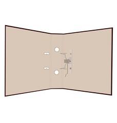 Realistic illustration of open folder