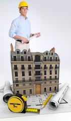 Architect on building renovation