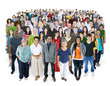 Crowed Diversity People Friendship Happiness Concept
