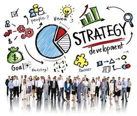 Strategy Development Goal Marketing Plan Concept